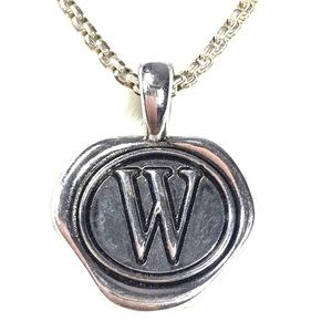 W Double Sided Pendant for Any Necklace